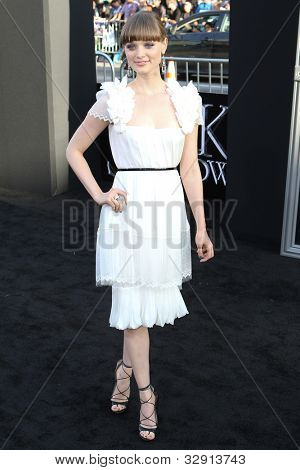 HOLLYWOOD, CA. - MAY 7: Actress Bella Heathcote arrives at Warner Bros. Pictures World Premiere of 'Dark Shadows' on May 7, 2012 at Graumans Chinese Theatre in Hollywood, Ca.