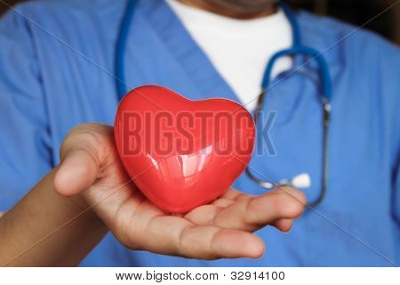 Medical Doctor with healthy heart