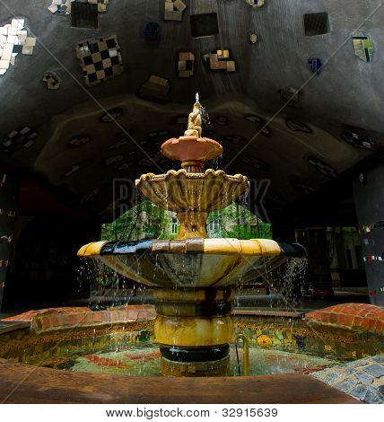 Fountain At The Hundertwasser House, Vienna