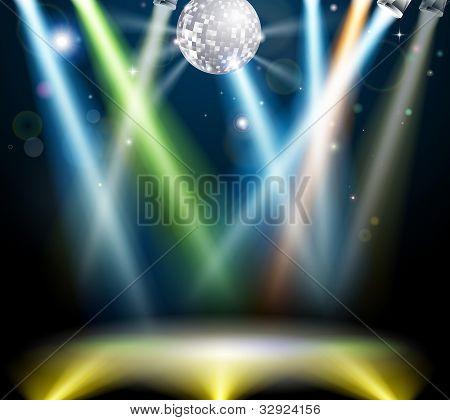 Disco-Kugel-Tanzfläche