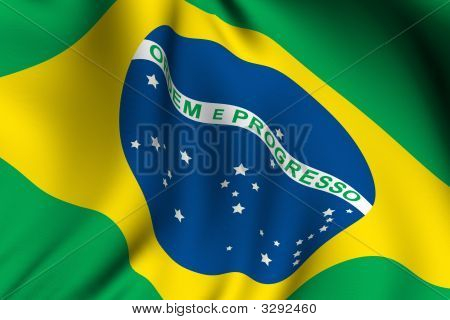 Rendered Brazilian Flag