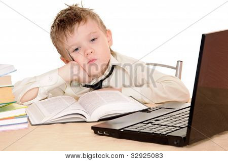Pupil With Book