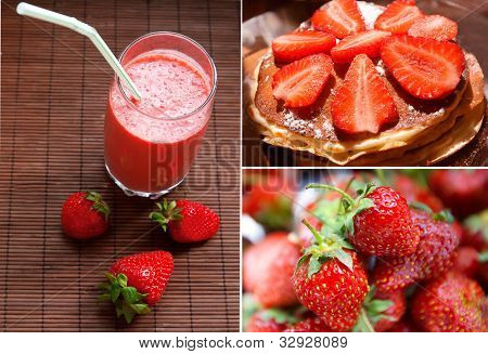 Strawberry Collage