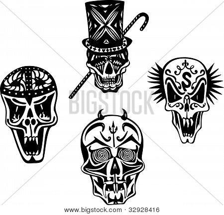 Cráneos estilizadas