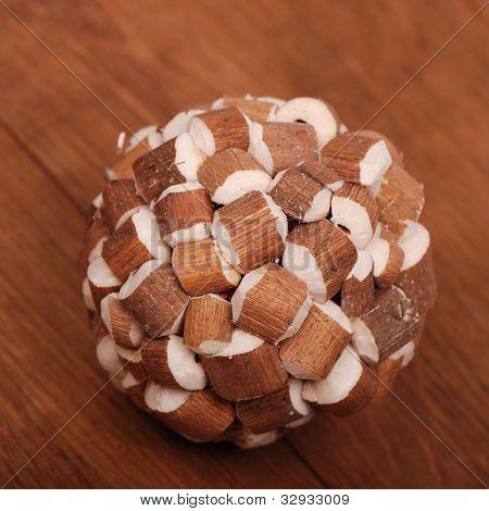 decorative wooden ball