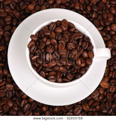 Top view of coffee