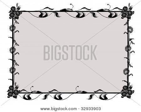 Spring  frame black-white