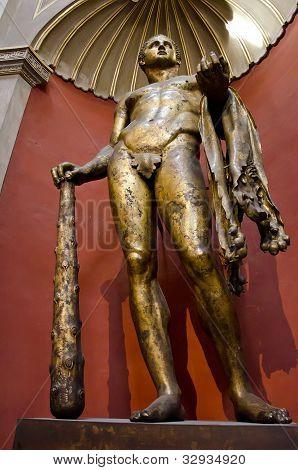 Gilded Bronze Statue Of Hercules