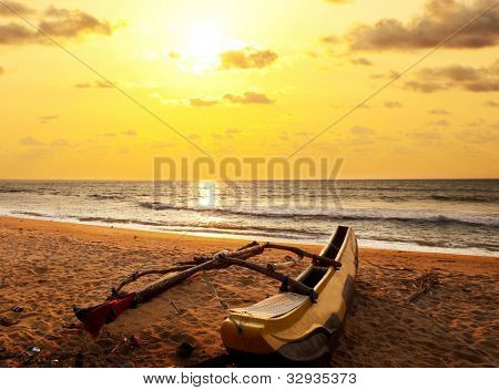 Fishing boat on  Sri Lanka