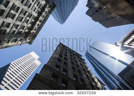 Group of tall office buildings