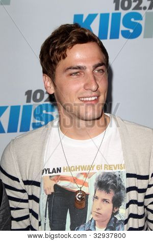 "LOS ANGELES - MAY 12:  Kendall Schmidt. arrives at the ""Wango Tango"" Concert at The Home Depot Center on May 12, 2012 in Carson, CA"