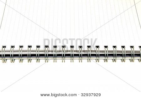 Blank notepad book