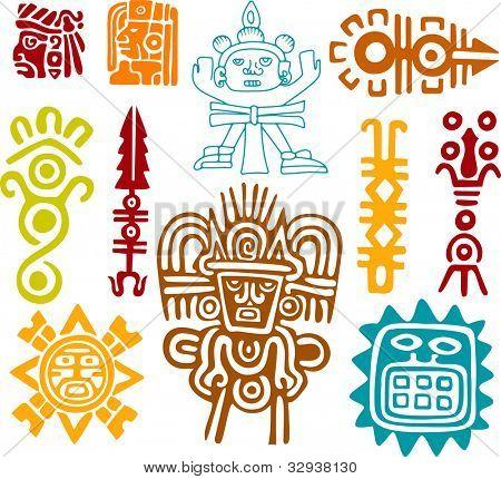 Vectores y fotos en stock de Conjunto de Maya - símbolos | Bigstock