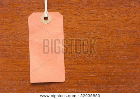 Blank Orange price product tag