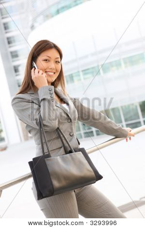 Asian Business Woman On Phone