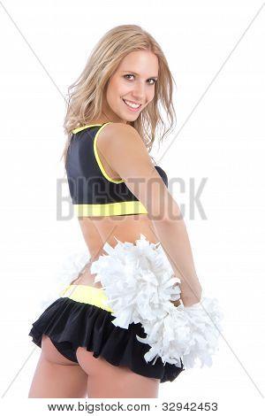 Cheerleader Woman Dancer Girls From Cheerleading Team