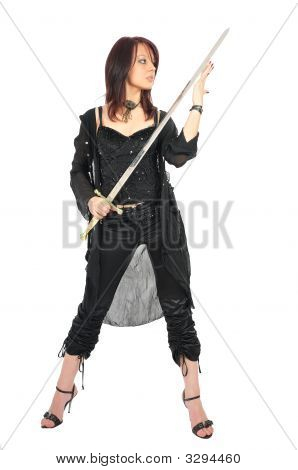Assassin Woman Check Sword