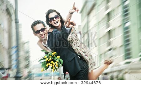Cheerful couple