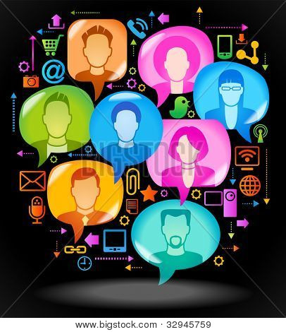 social network, communication in the global computer networks