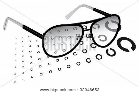 Glasses With A Test Chart