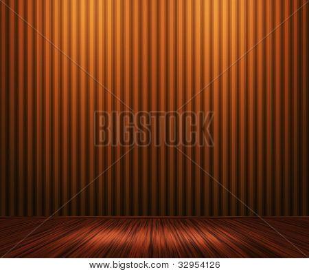 Orange Vintage Room Background