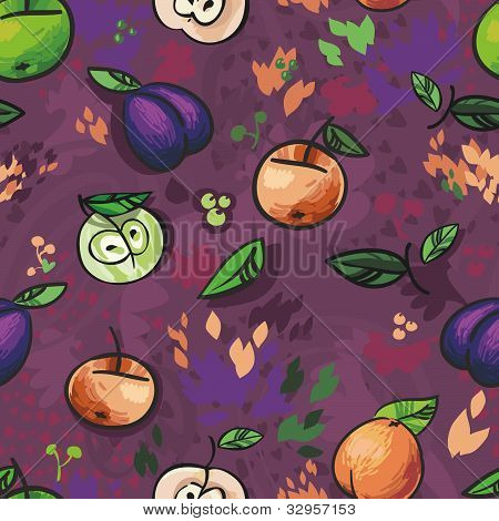 Fruits , seamless background