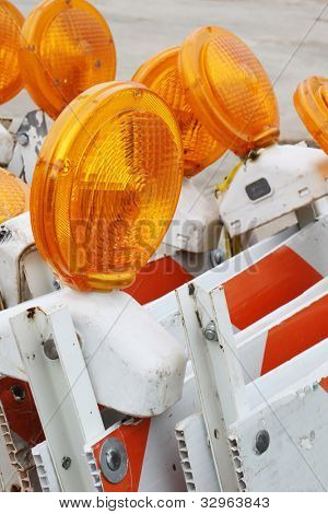Road work flashers