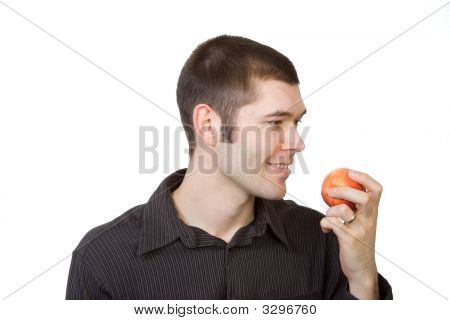 Man About To Eat Apple