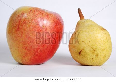 Apple Next To Pear
