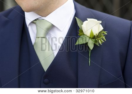 Groom With Flower