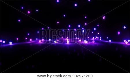Pruple Bouncing Light Balls Background