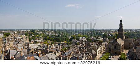 Dinan town panorama