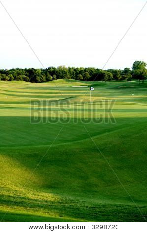 A Bright Green Golf Course