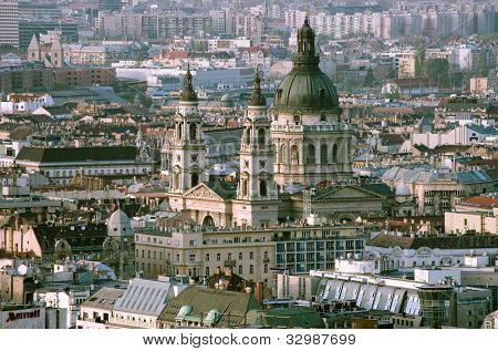 St. Stephen Basilica in downtown of Budapest, Hungary