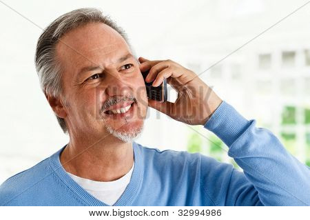 Portrait of a successful mature man talking on the phone