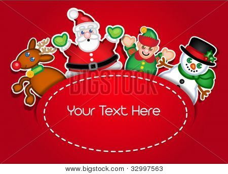 Template Design for Christmas Card