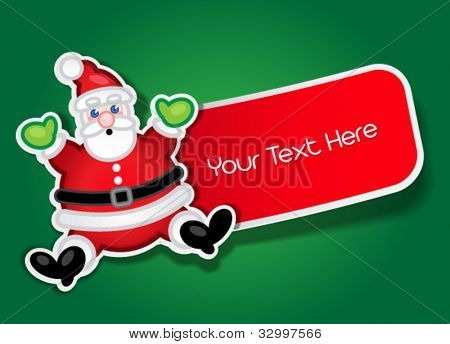 Santa Claus Label / Sticker