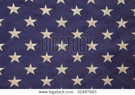 White Stars On A Field Of Blue Representing The Union On The American Flag