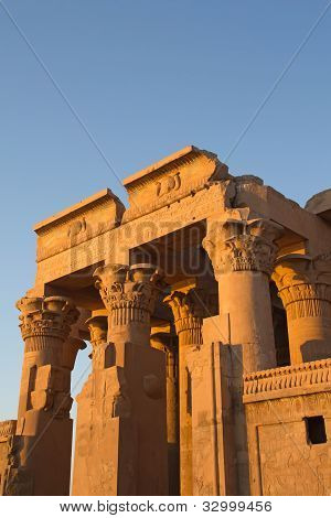 Temple Of Kom Ombo In Sunset Light (near River Nile, Egypt )