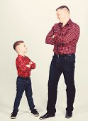 Best Friends Forever. Happiness Being Father Of Boy. Dad And Adorable Child. Parenthood Concept. Fat poster