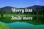 Worry Less, Smile More. Motivational Quote Poster. Success Motivation. poster