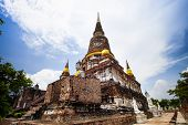 Wat Yai Chai Mongkol Temple In Ayutthaya World Heritage Site Of Unesco In Central Thailand poster