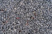 The Background Of The Gravel Image Used As A Walkway In The Garden Decor For The Garden And Gravel I poster