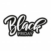 Black Friday Sale Inscription Design Template.  Black Friday Super Sale Offer. Discount Offer Presen poster