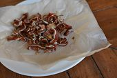 Pig Ears As A Beer Dish In The Beer Bar. Tasty Fried Pig Ears With Spices. Pig Ears Fries. Pork Ears poster