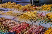Luala Lumpur Malaysia. March 16 2019. A View Of A Steam Boat Stall At The Famous Night Food Market J poster