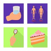 Vector Illustration Of Symptom And Disease Icon. Set Of Symptom And Treatment Stock Vector Illustrat poster