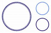 Double Circle Frame Mosaic Of Small Circles In Various Sizes And Color Tinges, Based On Double Circl poster