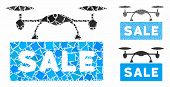 Airdrone Sale Mosaic Of Inequal Pieces In Various Sizes And Color Tinges, Based On Airdrone Sale Ico poster