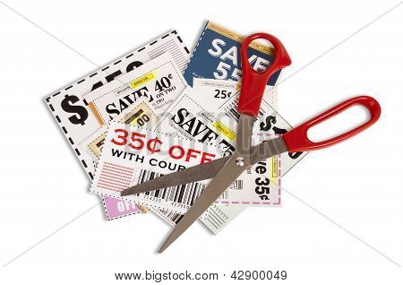 Many Coupons With Scissors XXXL